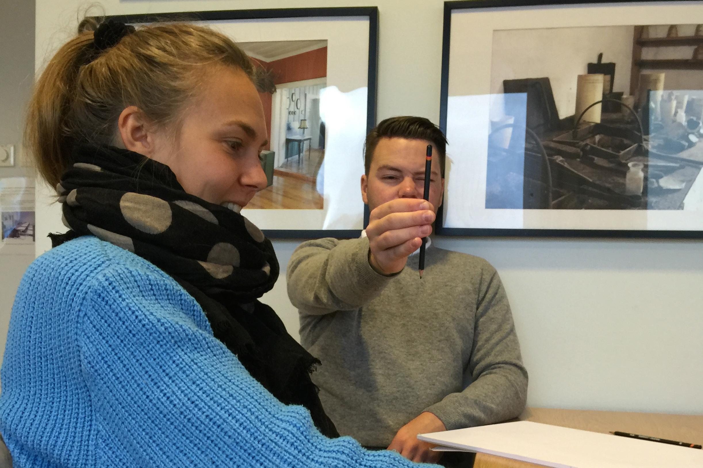 Opplæring i yrkesrettet tegning, Henriette og Finn starter prosessen